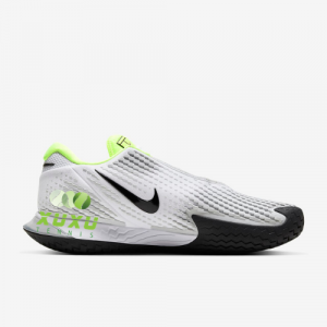 Giày Tennis Nike Court Air Zoom Vapor Cage 4 White Black Volt Pure Platinum CD0424-100