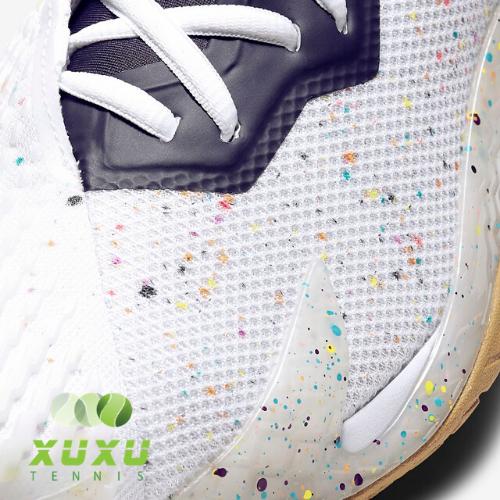 Giày Tennis Nike Court Air Zoom Vapor Cage 4 White Laser Crimson Gridiron Wheat CD0424-105