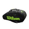 Túi Tennis Wilson Super Tour 2 Comp 9 Pack Black WR8004201001