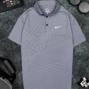 Áo Tennis Nike Có Cổ Màu Xám Nhạt #ANCC03XN