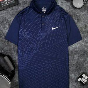 Áo Tennis Nike Có Cổ Màu Xanh Đen #ANCC05XD