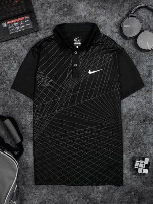 Áo Tennis Nike Có Cổ Màu Đen #ANCC04D