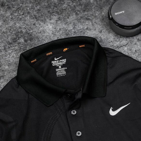 Áo Tennis Nike Có Cổ Màu Đen #ANCC01D