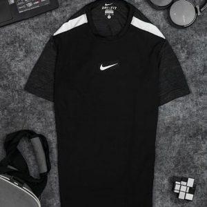 Áo Tennis Nike Cổ Tròn Màu Đen #ANCT03D