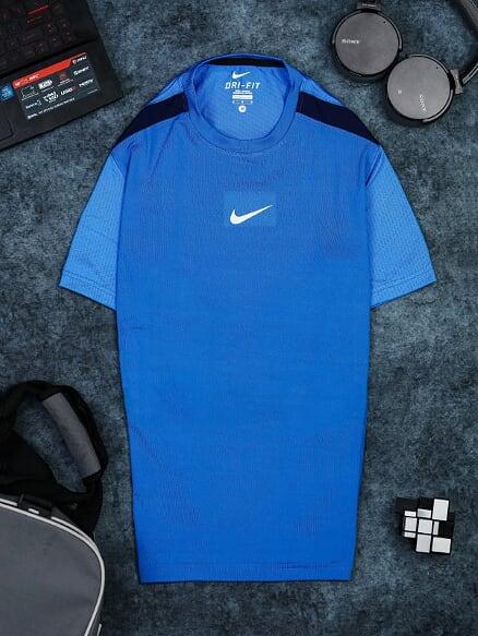 Áo Tennis Nike Cổ Tròn Màu Xanh Biển #ANCT04XB