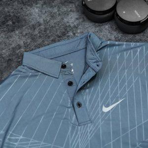 Áo Tennis Nike Có Cổ Màu Xám Đậm #ANCC06XD