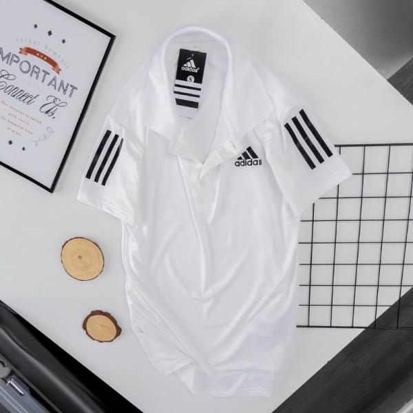 Áo Tennis Adidas Có Cổ Màu Trắng #DASCC001T