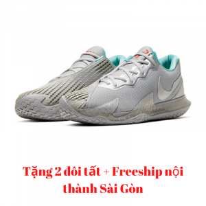 Giày Tennis Nike Air Zoom Vapor Cage 4 Metallic Silver #CD0424-004
