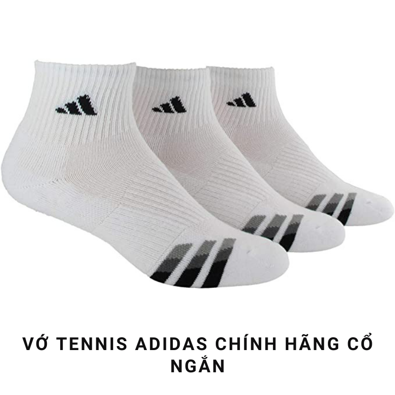Vớ Tennis Adidas Cổ Ngắn Chính Hãng